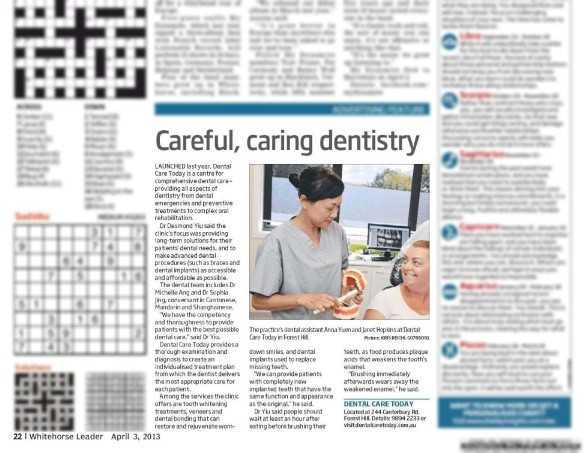Dental Care Today: Careful, caring dentistry